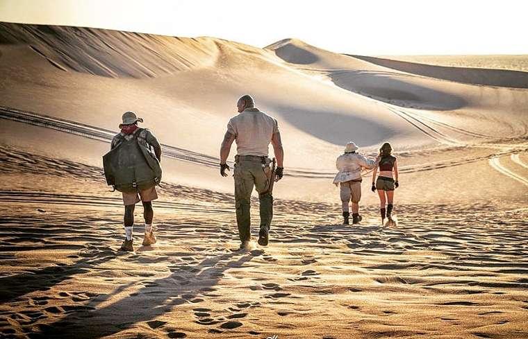 Jumanji 3, The Rock, Dwayne Johnson, desert, desierto