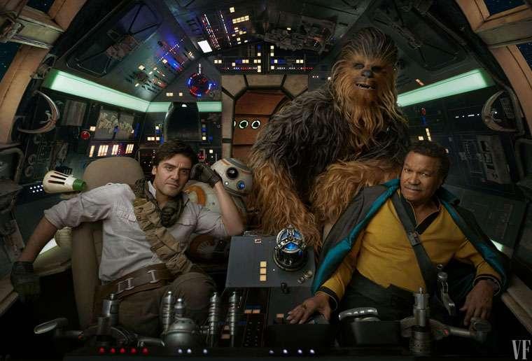 Star Wars: The Rise of Skywalker, Lando, Chewbacca, Poe Dameron