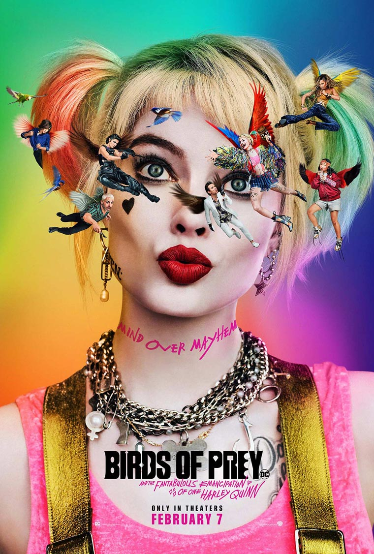 Birds of Prey, Margot Robbie, Harley Quinn, póster