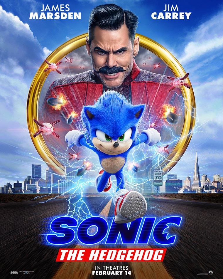 Sonic the Hedgehog, Jim Carrey, poster