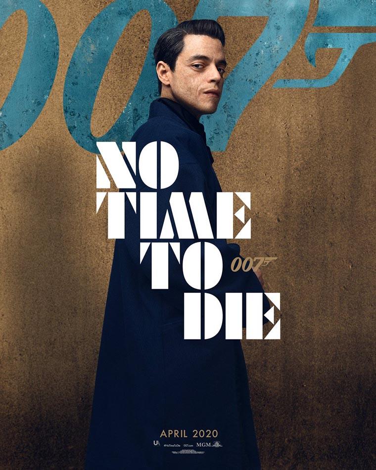 No Time to Die, poster, Rami Malek
