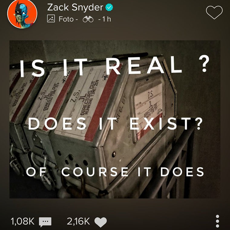 Snyder's Cut, Zack Snyder, Justice League