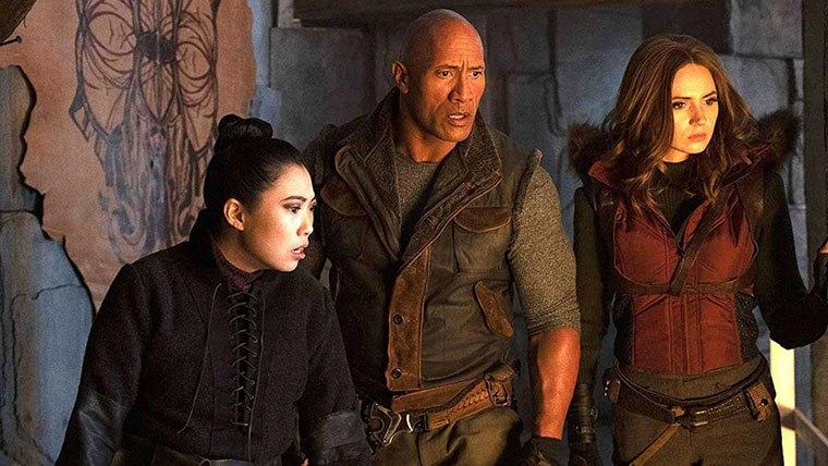 Jumanji: The Next Level, Jumanji: El Siguiente Nivel, The Rock, Dwayne Johnson, Karen Gillan, Awkwafina