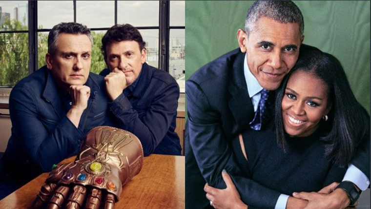 Barack Obama, Russo, Avengers, Michelle Obama, Anthony, Joe