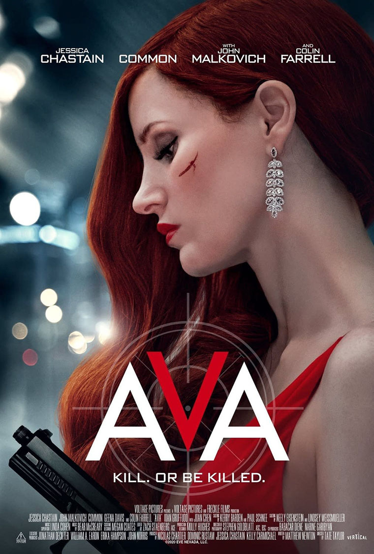 Jessica Chastain, Ava, poster