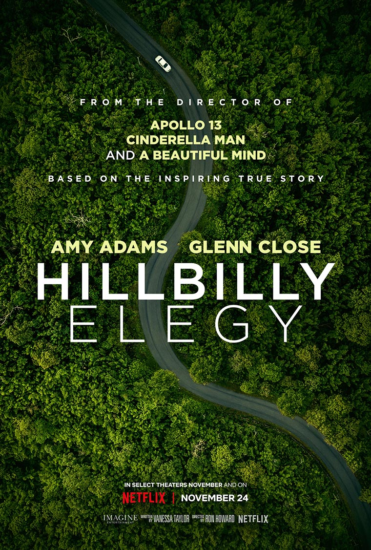 Hillbilly Elegy, Amy Adams, Ron Howard, poster