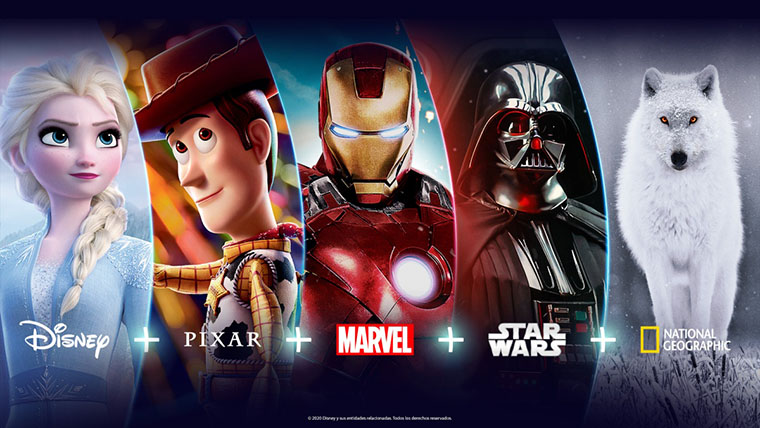 Marvel, Star Wars, Pixar, Disney Plus, Disney+