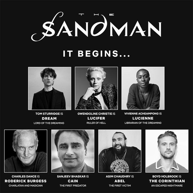The Sandman, cast, elenco